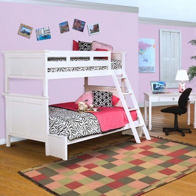 [주니어수입가구] New Classic Junior 044 White/ 045 Black Twin/Twin Bunk Bed